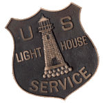 Lighthouse Service badge. Want to visit our lighthouse?